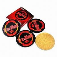 Quality Cork/ Wooden Coasters with 3 to 5mm Thickness for sale