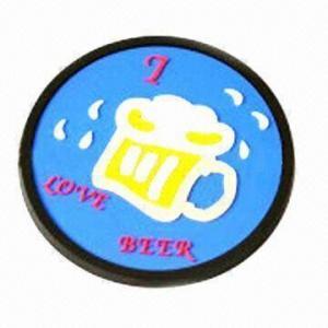 Quality Soft PVC Coaster with 9cm Diameter for sale
