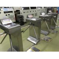 Quality Well Finished SUS304 Tripod Turnstile Gate Three Roller With ESD Tester for sale