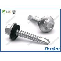 Quality Stainless 410 Self Drilling Screw with Neoprene Washer, Hex Flange Washer Head for sale