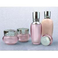 Quality empty 30ml 50ml 100ml Fancy gold Palace series plastic acrylic cosmetic lotion bottle for sale