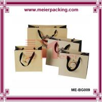 Quality Luxury paper shopping bags with ribbon handle/Bespoke garment paper bags ME-BG009 for sale
