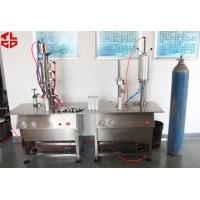 Quality Pneumatic Aerosol Can Bag On Valve Filling Machine Semi Automatic BOV Filling Machines for sale