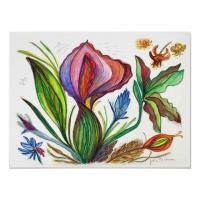 Quality art painting petal wall art designs printing picture for sale