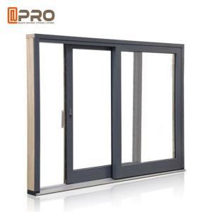 China Anti Aging Aluminium Sliding Patio Doors For Interior House Customized Color on sale