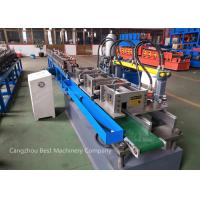 Quality T Grid Stud And Track Roll Forming Machine PLC Control Flying Saw Cutting Type for sale