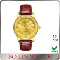 Quality Stainless Steel Case 18k Solid Gold Watches For Ladies Adjustable Size for sale