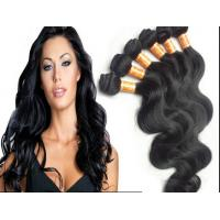 Buy Color 1B Body Wave Peruvian Human Hair Extensions With Unprocessed at wholesale prices