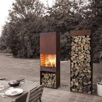 Quality Yard / Garden Cast Iron Fire Pot , Corten Steel Fire Pit Wood Burning Fireplace for sale