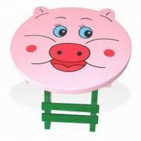 Quality Wooden Stool, Made of MDF, Measures 25.5 x 25.5 x 25cm, Suitable for Children for sale