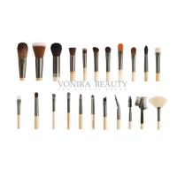 Quality Custom 22 Piece Full Set Private Label Makeup Brushes Wood Handle For Face , Eyes And Lip for sale