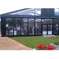 Quality High Reinforced Aluminum Outdoor Wedding Tents With Sidewalls Glass Cover 20x20m for sale