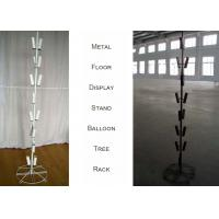 China Balloons Tree Metal Floor Display Stands / 16 Tubular Holder Metal Display Rack on sale