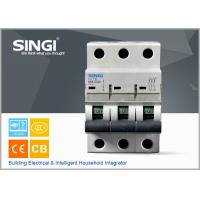 Quality SINGI 65A 3VTB 3P 400V  CE certificate slippery container holder mini circuit breaker(MCB) manufacturer for sale