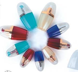 Quality empty 15ml 20ml  30ml 50ml oval shape plastic cosmetic bottle for sale