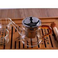 Quality Pyrex Microwave Heating Glass Tableware Teapots with Stainless Steel Infuser & Lid for sale