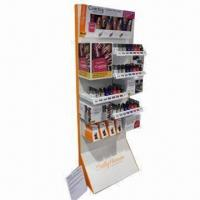 Quality Corrugated Paper Lipstick Cosmetic Display Stands with Colorful Printing for Advertising Promotions for sale