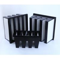Quality MERV16 V Bank Cell HEPA Media Filter With ABS Plastic Frame 14sqm Area for sale