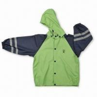 Quality Children's Raincoat, Made of PU Material, with Welded Seams for sale