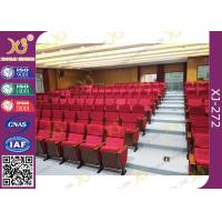 Quality Cover Shaped University Lecture Room, Church Chairs With Customized Sewing Logo for sale
