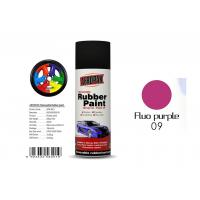 Quality Multi - Purpose Removable Rubber Spray Paint Fluo Purple For Wheel Color Change for sale