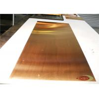 Quality Professional Conductive Brass Copper Sheet Metal C12200 Cold rolled for sale