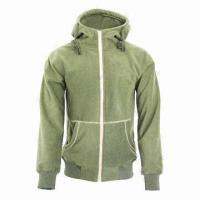 Quality Men's and Ladies' Fashionable Fleece Black/Army Green Lifestyle Jacket for sale