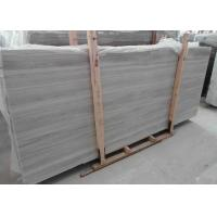Quality Square Light Grey Marble Stone Slab Natural Stone Floor Tiles With Random Edge for sale