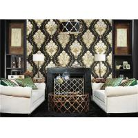Quality Lightweight Peelable PVC Vinyl Wallpaper Flower Pattern With 10m Length for sale