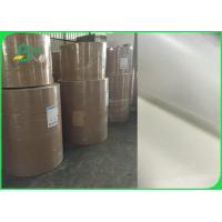 Quality 26gsm To 50gsm Greaseproof White Kraft Paper Roll FDA FSC Certified for sale