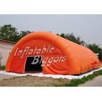 Buy cheap Rental Advertisement Orange Inflatable Dome Tent Marquee With Digital Inkjet Printing from wholesalers