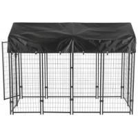 China Durable Dog Run Kennel , Large Outdoor Dog Cage With Waterproof Cover on sale