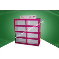 Quality Rose Red Strong Paper Cardboard Pallet Display in Stores 80X60X130CM for sale