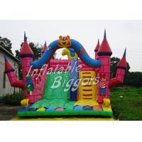 China Safe CE Outdoor Inflatable Slip N Slide For Rent , Childrens / Adult Bouncy Castles on sale