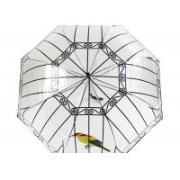 Quality Apollo Transparent Rain Umbrella Bird cage custom long handle thickened poe for sale