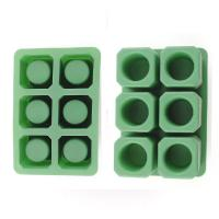 China Durable Silicone Ice Shot Glass Molds, 6 Cups Silicone Square Ice Cube Trays on sale