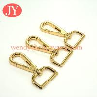 Quality jiayang gold color 32mm swivel snap hook for purse / handbags for sale