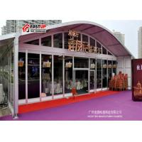 Quality Aluminum Pvc Arcum Clear Span Tent For Real Estate Opening 1200 People Seater Guest for sale