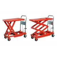 Quality Orange Stationary Manual Hydraulic Lift 5000 * 2500 mm For Metal Industry for sale