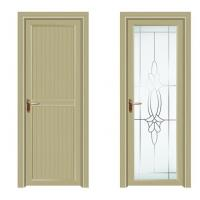 China Swing Anodized Aluminium Casement Door Tempered Glass Wood Grain on sale