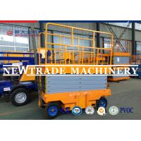 CE Self Propelled Electric Mobile Scissor Lift Platform With Manual Four Wheelchair