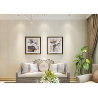Quality White Silver Grey Removable Contemporary Wall Coverings with No Harmful Smell for sale