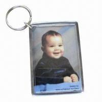 Quality Promotional keychains, made of eco-friendly acrylic/plastic, various shapes and sizes are available for sale