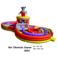 China Rat Obstacle Course Inflatable Fun City / Inflatable Bounce For Kids Playing on sale
