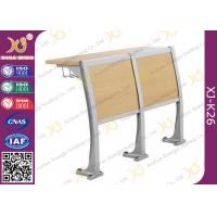 Buy Lecture Hall Seats Attached School Desks And Chair Wooden Folding Furniture at wholesale prices