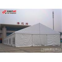 Quality Durable Massive Tent 30 X 60 Party Tent With Tempered Glass Walls Glass Door for sale