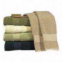 Quality Plain-dyed Bath Towels with Dobby Border, Made of 100% Cotton, Customized Sizes and Weights Welcomed for sale