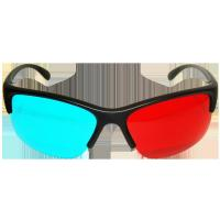 Quality Fashion women disposable 4c C1S paper clip on Anaglyph 3D Glasses for 3D theater system for sale