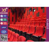 Quality Fabric Upholstered Folding Theater Seats Returning Seat By Gravity No Noise for sale