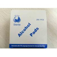 Buy cheap Medical Use Sterile Alcohol Pads Saturated With 70% Lsopropyl Alcohol from wholesalers